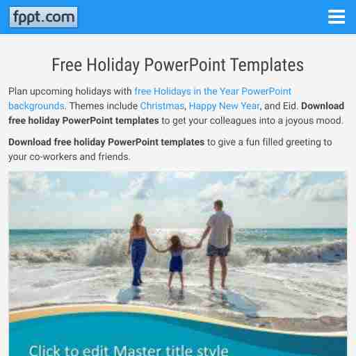 Powerpoint Templates Holiday Theme