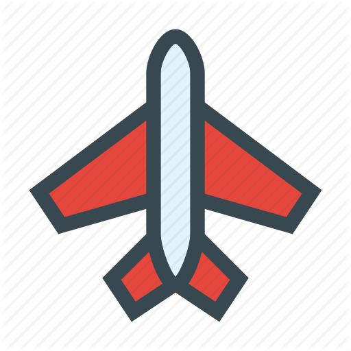 Airplane, Airport, Fly, Plane, Transport, Vacation Icon