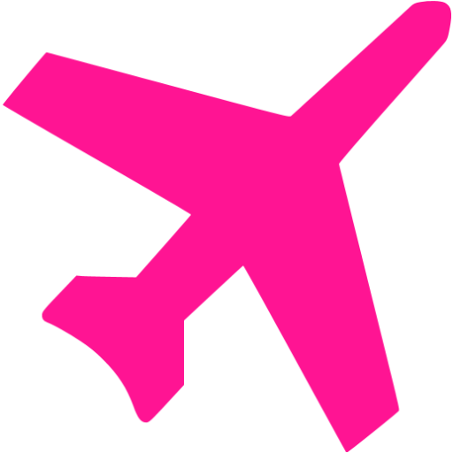 Pink Airplane Clipart Collection