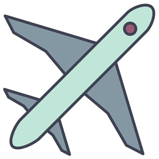 Plane, Fill, Multicolor Icon With Png And Vector Format For Free