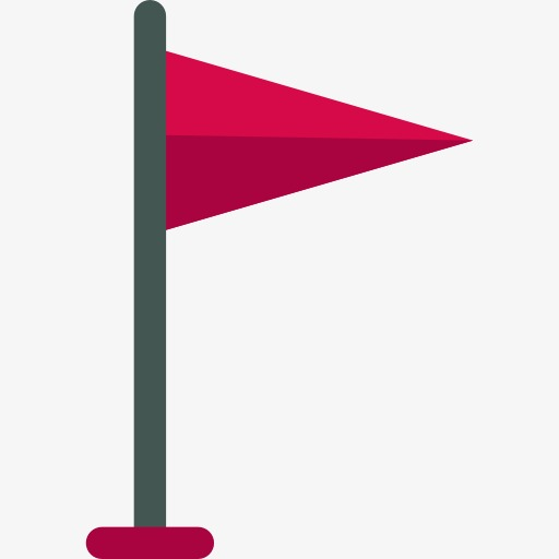 A Small Red Flag, Flag Clipart, Red Flag, Cartoon Png Image