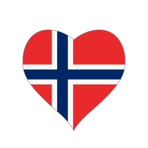 Norwaynorwegian Heart Flag Heart Sticker Projects