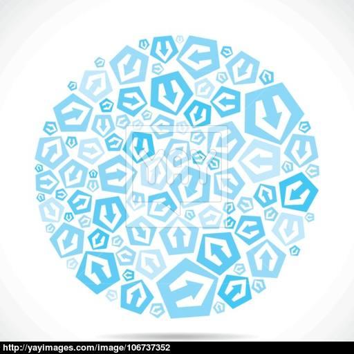 Blue Small Arrow Icon Design Stock Vector Vector