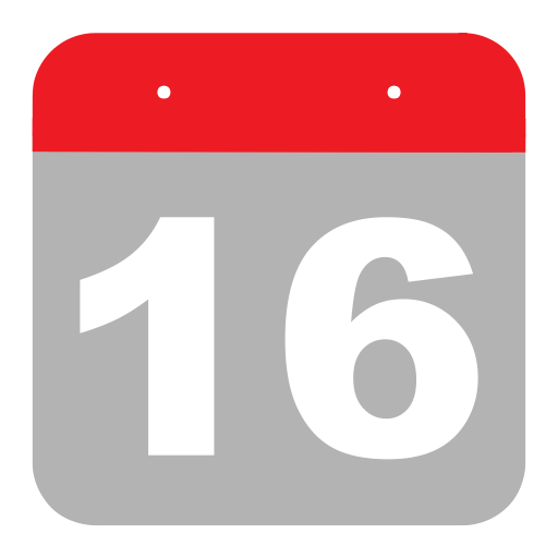 Six, Calendar, Event, Sixteen, One, Hovytech, Schedule Icon