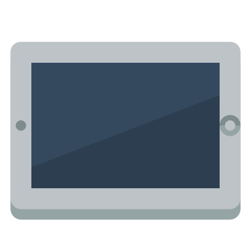 Device Tablet Icon Small Flat Iconset Paomedia