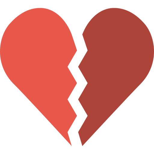 Broken Heart Broken Heart Png Icon