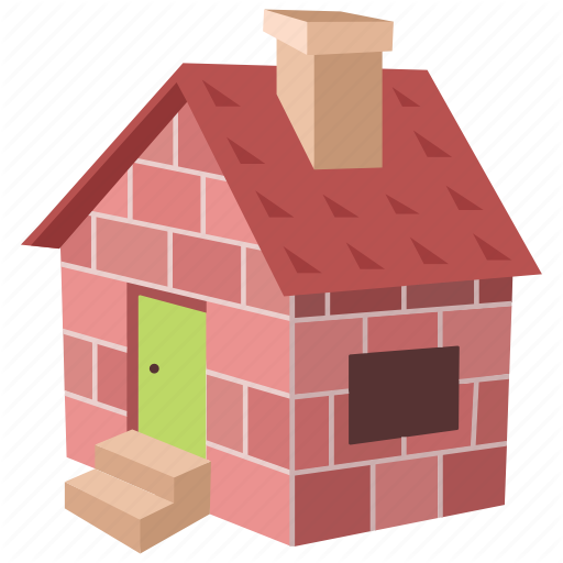 Brick, Cottage, Home, House, Small, Three Little Pigs Icon