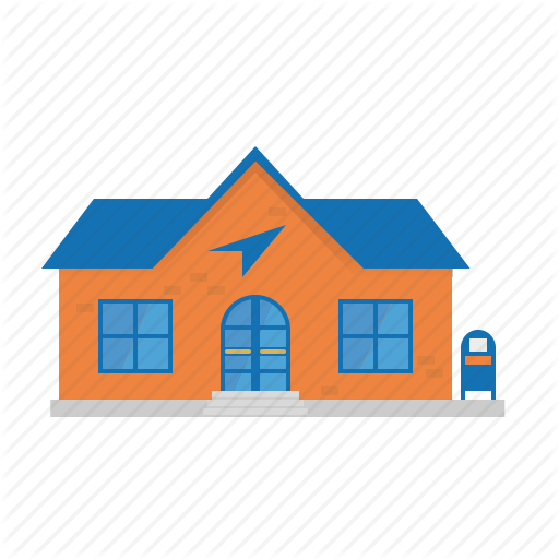 Building, House, Mail, Office, Post, Post Box, Small Town Icon