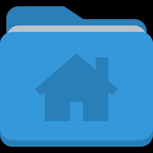 Folder House Icon Small Flat Iconset Paomedia