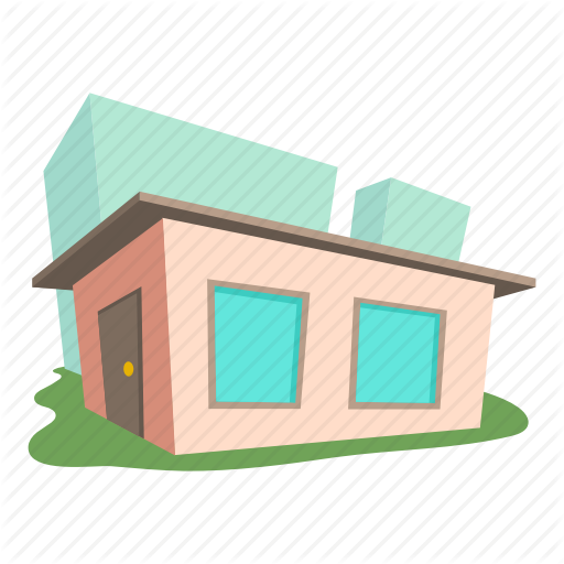Building, Cartoon, Exterior, Front, Home, Roof, Small House Icon