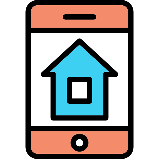 Smart Home, Technological, House, Buildings, Real Estate Icon