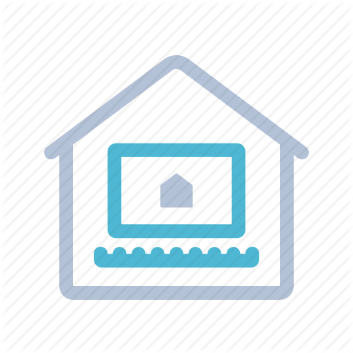 Computer, Home, House, Notebook, Smart Home, Technology Icon
