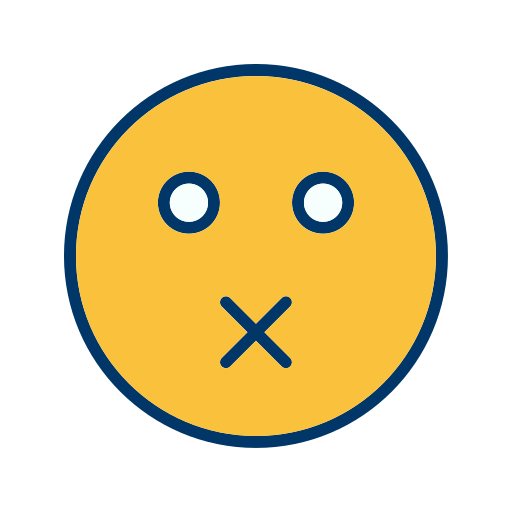 Emoticon, Face, Mute, Smiley Icon Free Of Emoticons Filled Two
