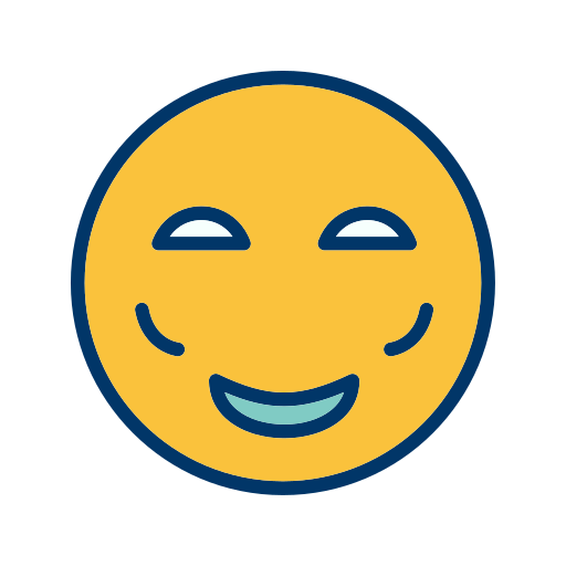 Blush, Emoticon, Face, Smiley Icon Free Of Emoticons Filled Two
