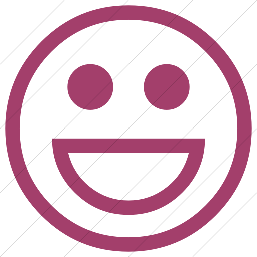 Simple Pink Classic Emoticons Smiling Face With Open