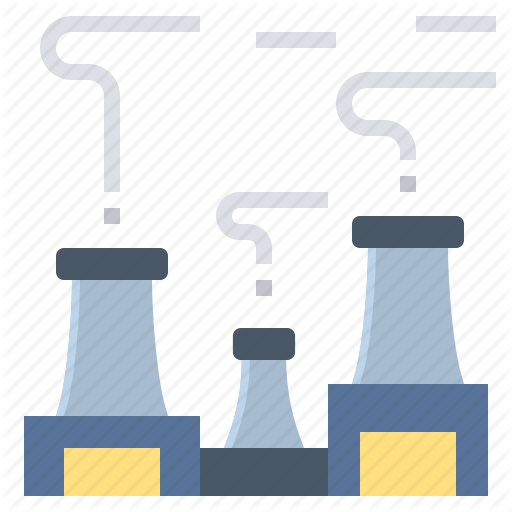Factory, Industrial, Smog, Smoke, Smokestack Icon