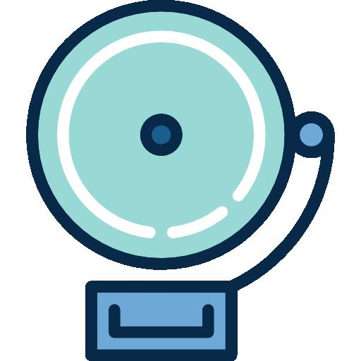 Alarm Flat Lightblue Icon