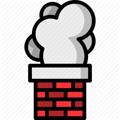Brick, Chimney, Christmas, Santa Claus, Smoke Icon