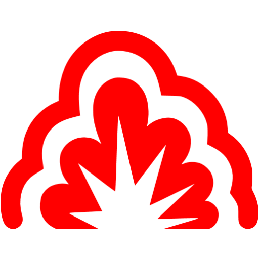 Red Smoke Explosion Icon