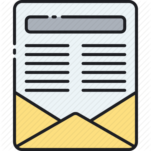 Flyer, Form, Newsletter, Snail Mail, Subscription Icon