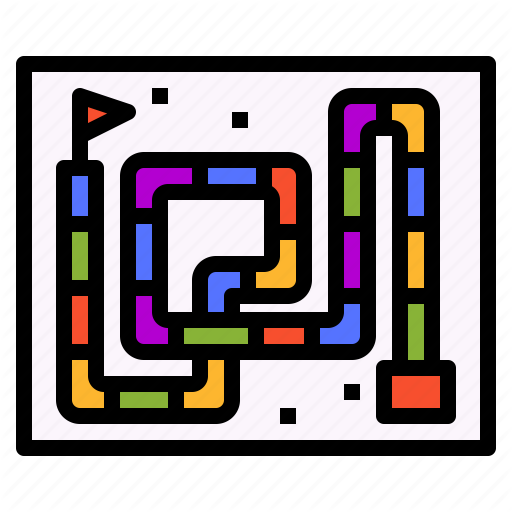 Board, Game, Maze, Riddle, Snake, Tabletop Icon