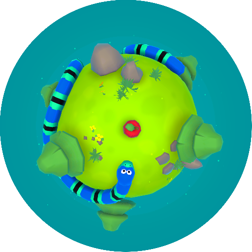 Icon For The Android Version Of The Game Snaky Snake Mobile Game