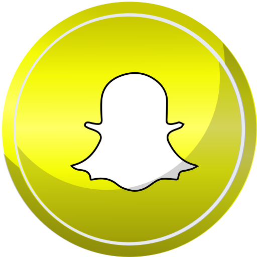 Snapchat Icon Free Of Social Media Round Set