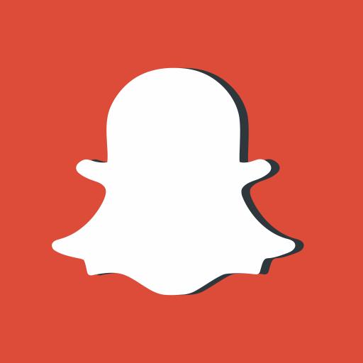 Red, Snapchat, Social, Networking, Media, Photo, Logo Icon