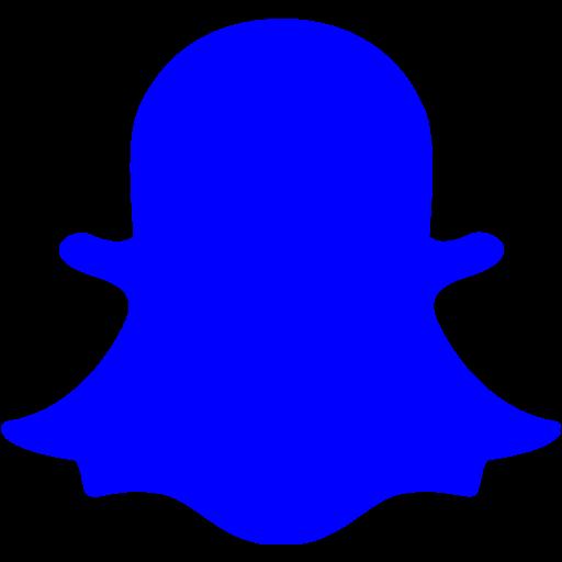 Blue Snapchat Icon