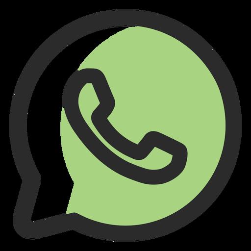Whatsapp Colored Stroke Icon