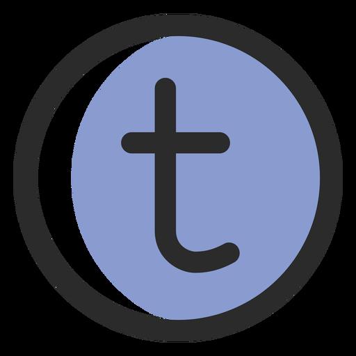 Tumblr Colored Stroke Icon