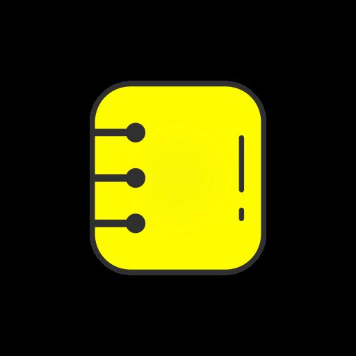 Contact List, List, Log, Snapchat Icon