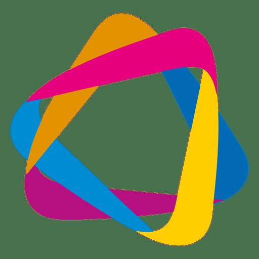 Colorful Orbit Triangles Icon