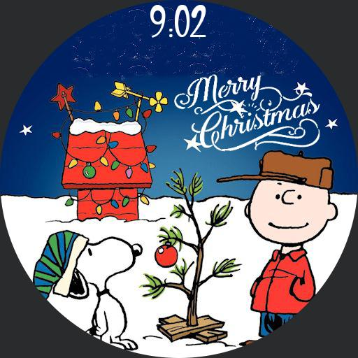 Merry Christmas Snoopy Watchfaces For Smart Watches