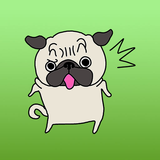 Snoopy The Cute Pug Stickers