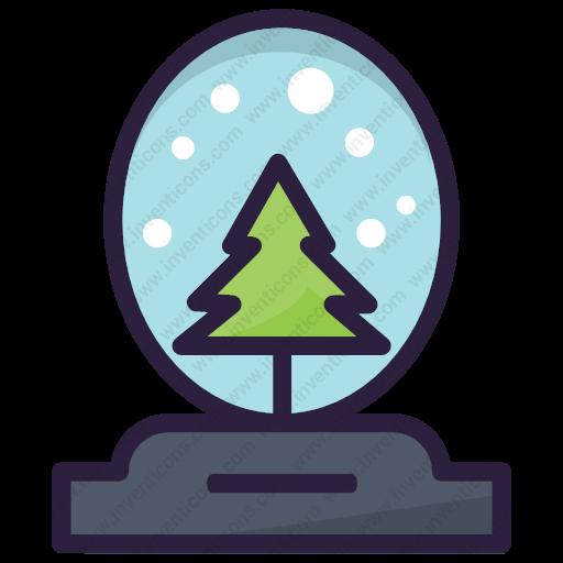 Download Snow Globe,christmas,globe,snow,xmas Icon Inventicons