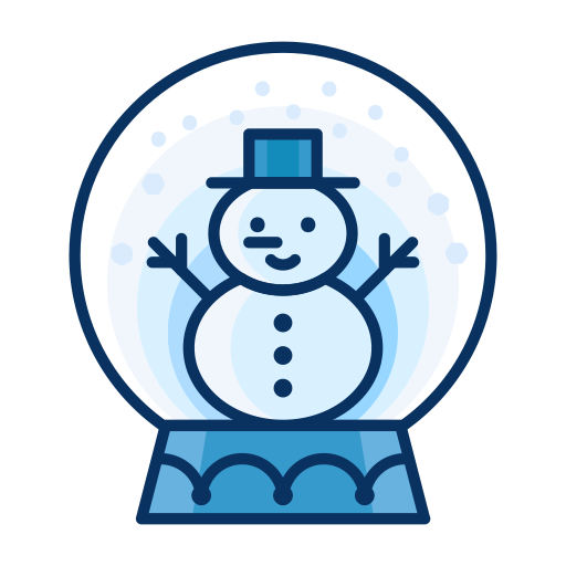 Man, Snow, Snowman, Snowglobe, Decoration, Decorate Icon