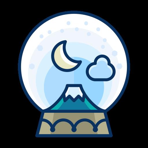 Snowglobe, Decoration, Decorate, Moon, Cloud, Mountan