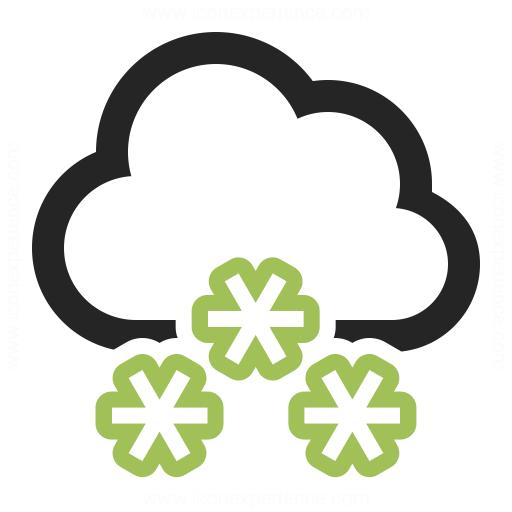 Cloud Snow Icon Iconexperience