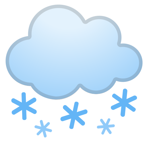 Cloud With Snow Icon Noto Emoji Travel Places Iconset Google