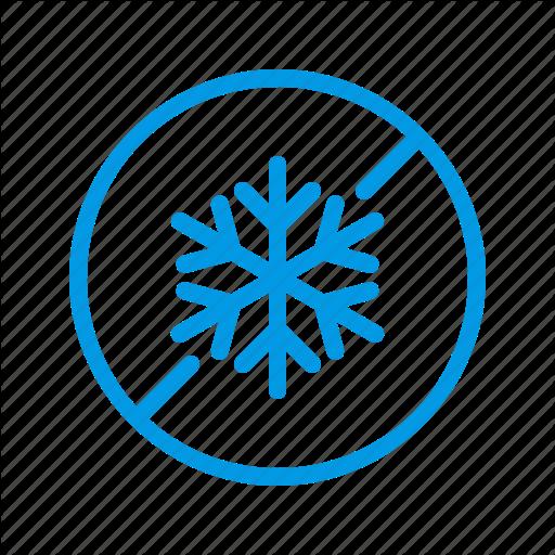 No, Removal, Snow, Snowfall Icon