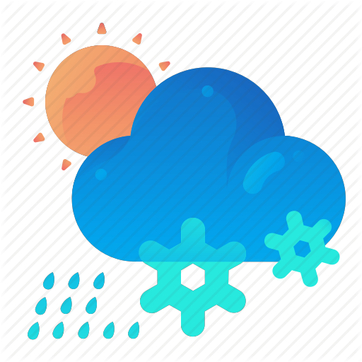 Cloud, Day, Forecast, Rain, Snow, Weather Icon