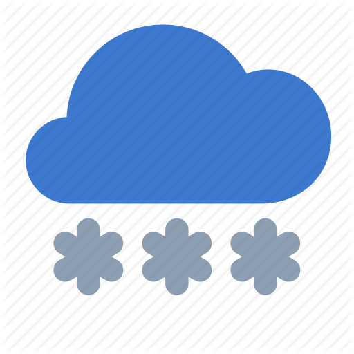 Cloud, Forecast, Heavy, Snow, Weather Icon