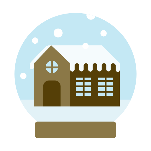 Decoration, Glass, House, Snow, Snowball Icon