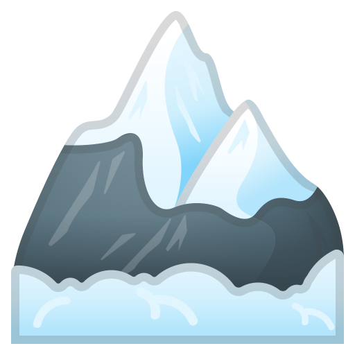Snow Capped Mountan Noto Emoji Travel Places Iconset