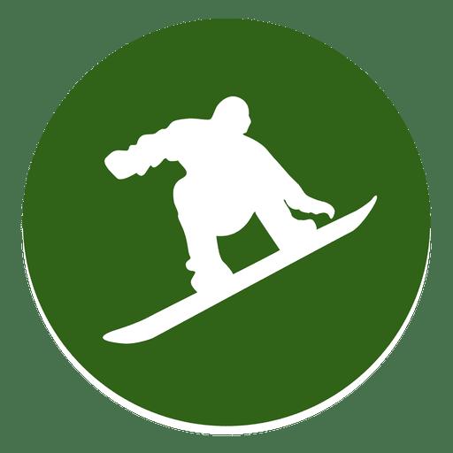 Snowboarding Circle Icon