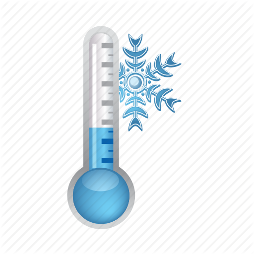Cold, Snowflake, Temperature, Thermometer, Weather Icon