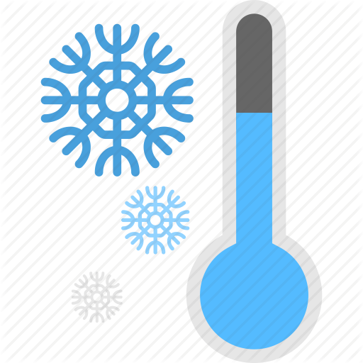 Cold Symbol, Frozen Thermometer, Thermometer With Snowflake