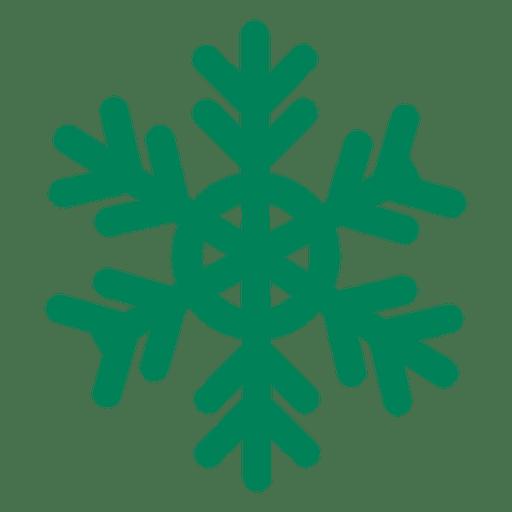 Green Flat Snowflake Icon