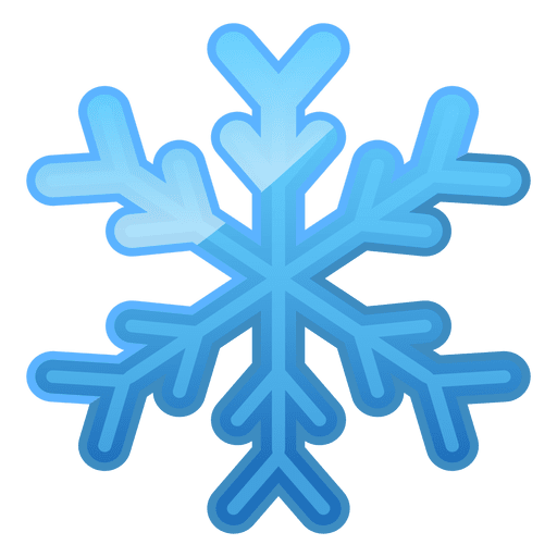 Shiny Blue Snowflake Icon